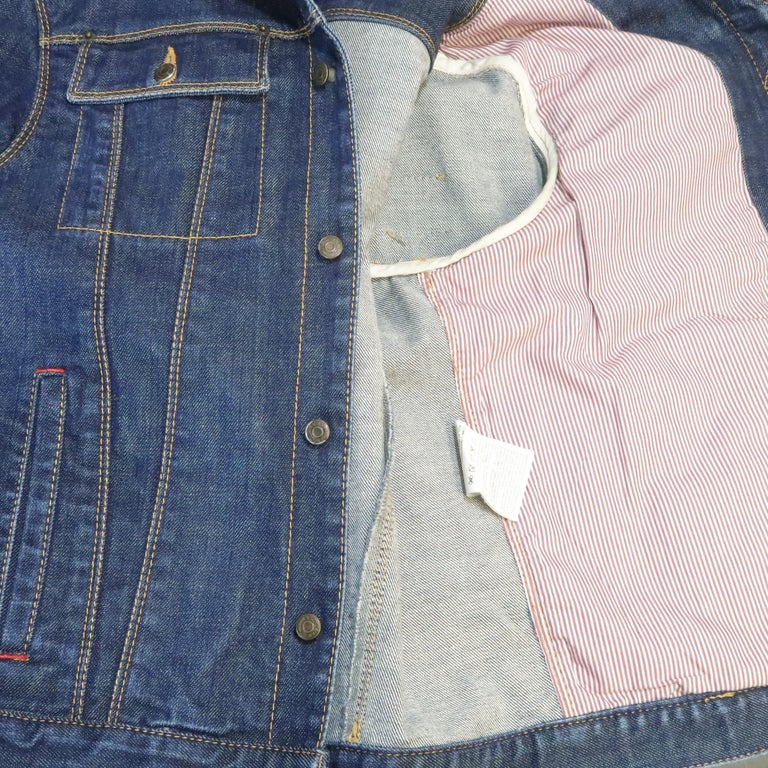 DSQUARED2 38 Indigo Denim Cropped Jacket For Sale 4