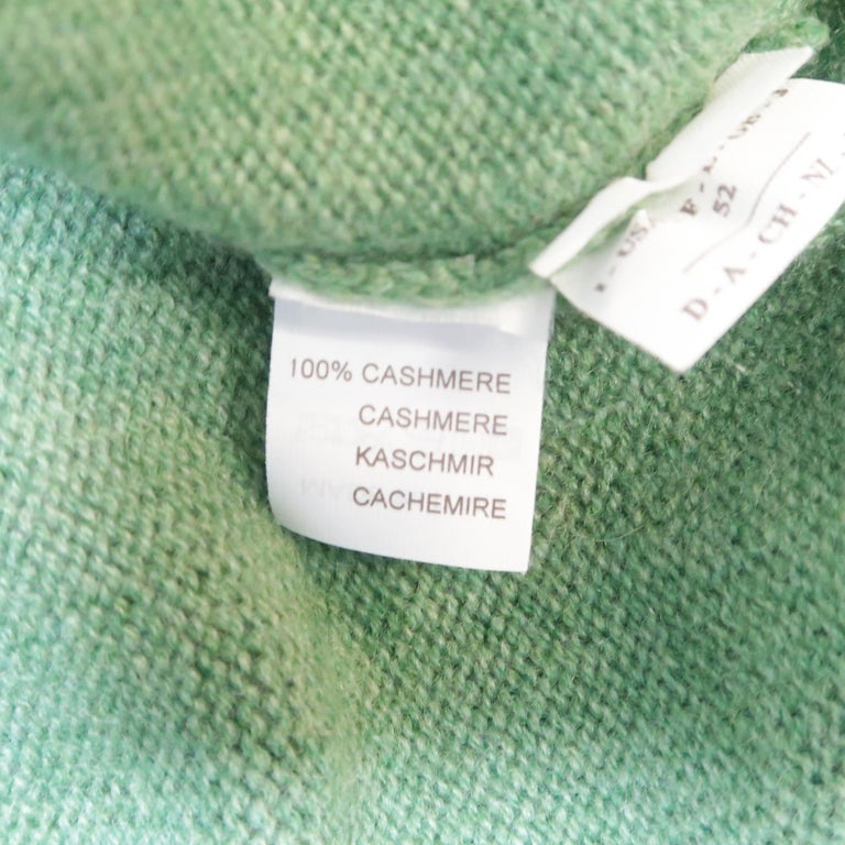 Men's BRUNELLO CUCINELLI Size 42 Green Knitted Cashmere Elbow Pads Sweater For Sale 4