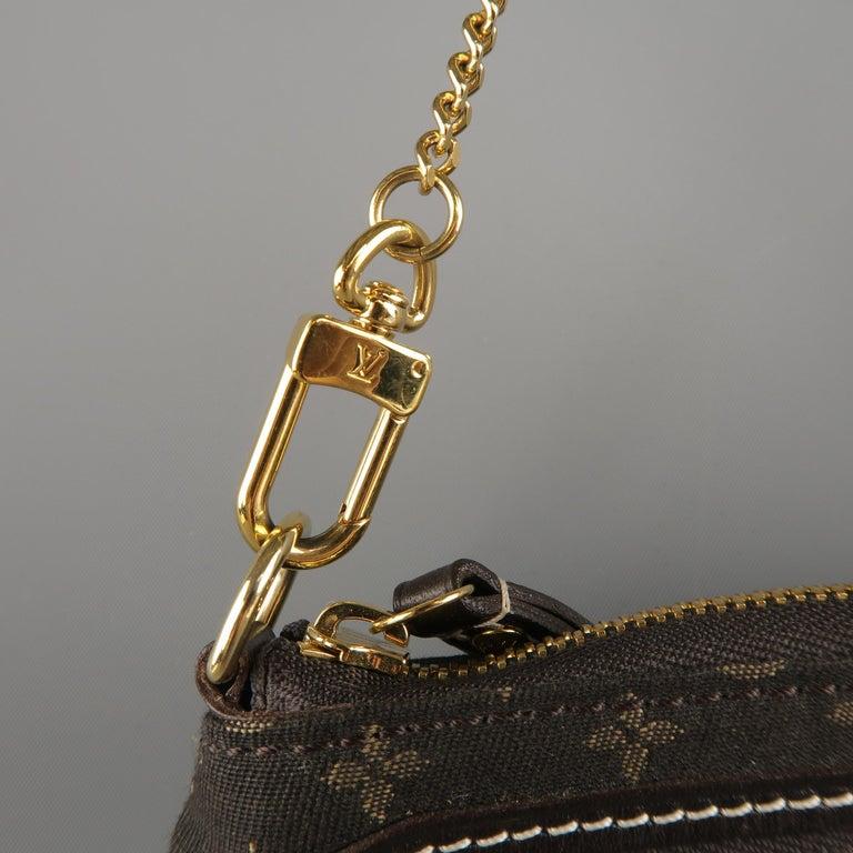 Louis Vuitton Brown Monogram Fabric Gold Chain Strap Mini
