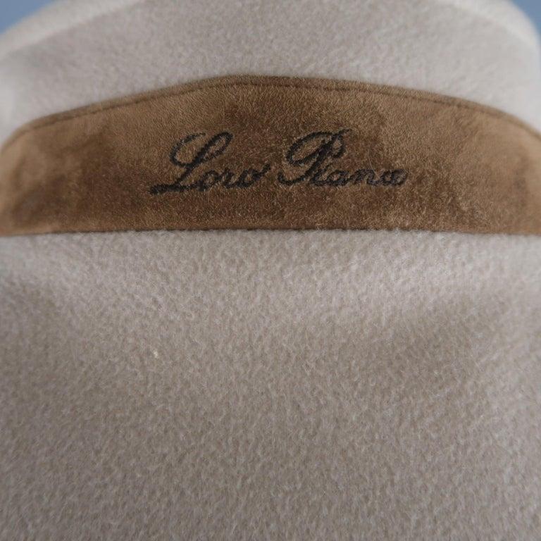 LORO PIANA XL Oatmeal Solid Cashmere Vest For Sale 1