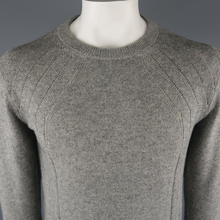 premium selection 30d04 375de DIOR HOMME Größe L Grauer Pullover Kamelhaar