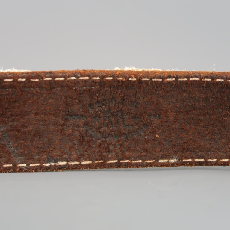 RRL by RALPH LAUREN Size 32 Brown Leather Rope Belt For Sale 3