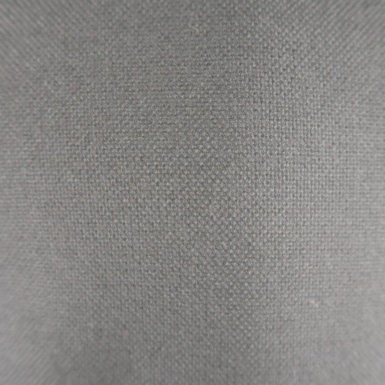 Men's GUCCI 36 Navy Woven Wool / Mohair Notch Lapel Sport Coat For Sale