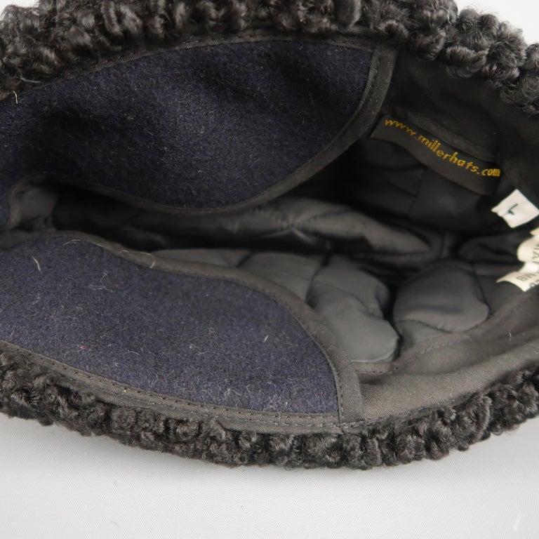 751874c61ab MILLER Size L Black Persian Lamb Fur Ambassador Hat For Sale at 1stdibs