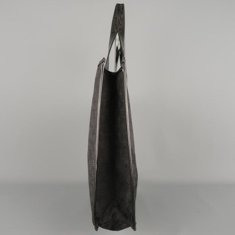 f1e4f3893d6f Women s Vintage SALVATORE FERRAGAMO Black Monogram Patent Leather Trim Tote  Bag For Sale
