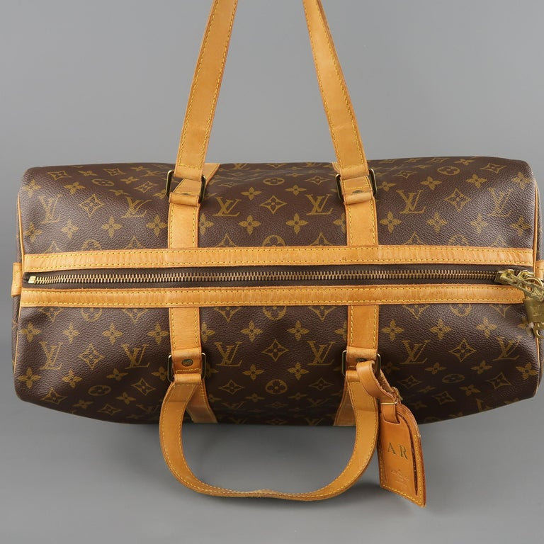 LOUIS VUITTON Brown Monogram Canvas SAC SOUPLE 45 Travel Bag 10