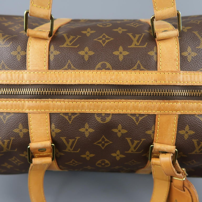 LOUIS VUITTON Brown Monogram Canvas SAC SOUPLE 45 Travel Bag 11