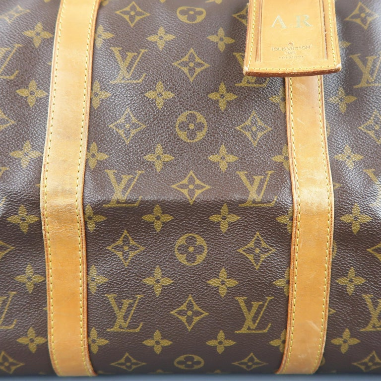 LOUIS VUITTON Brown Monogram Canvas SAC SOUPLE 45 Travel Bag 4