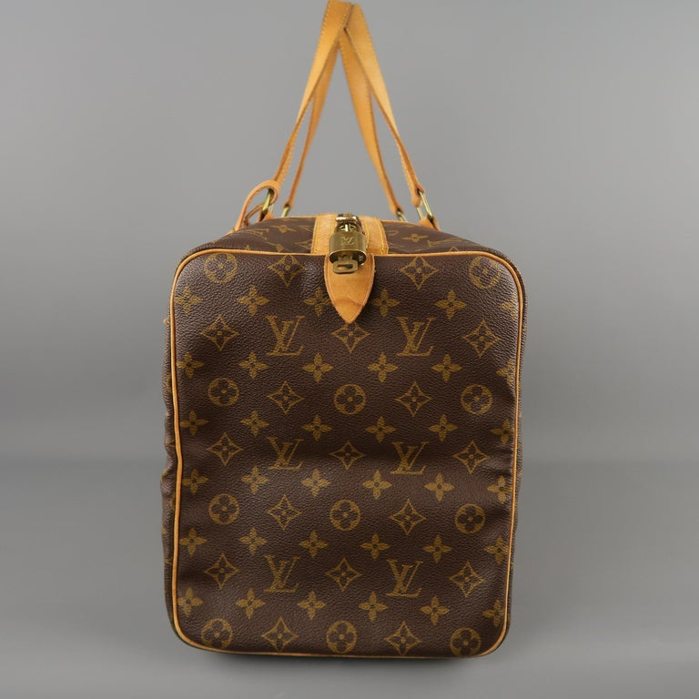 LOUIS VUITTON Brown Monogram Canvas SAC SOUPLE 45 Travel Bag 8