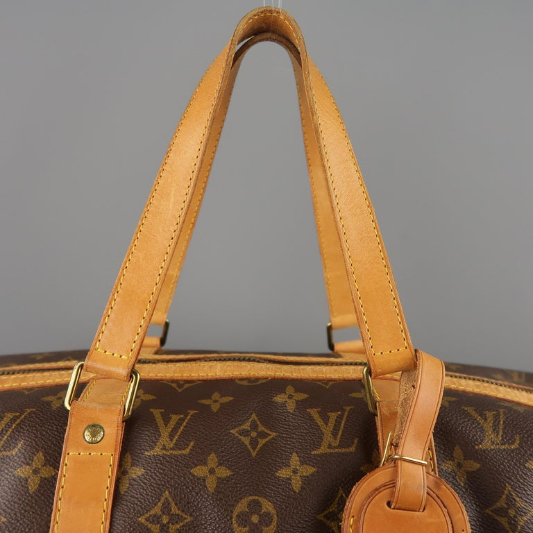 LOUIS VUITTON Brown Monogram Canvas SAC SOUPLE 45 Travel Bag 5