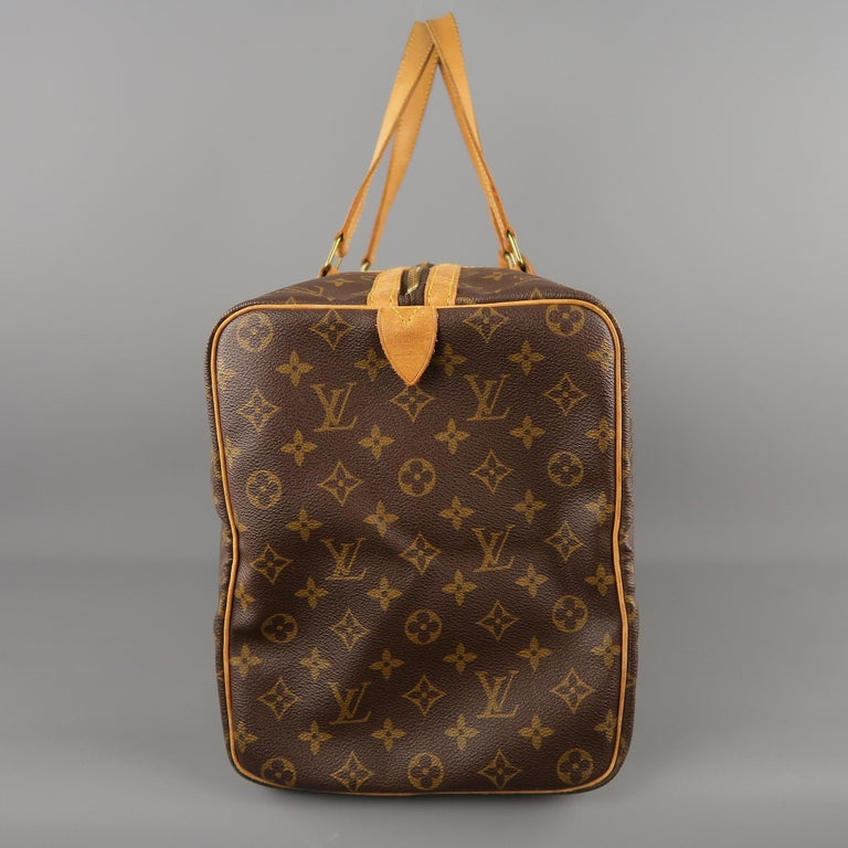 LOUIS VUITTON Brown Monogram Canvas SAC SOUPLE 45 Travel Bag 6