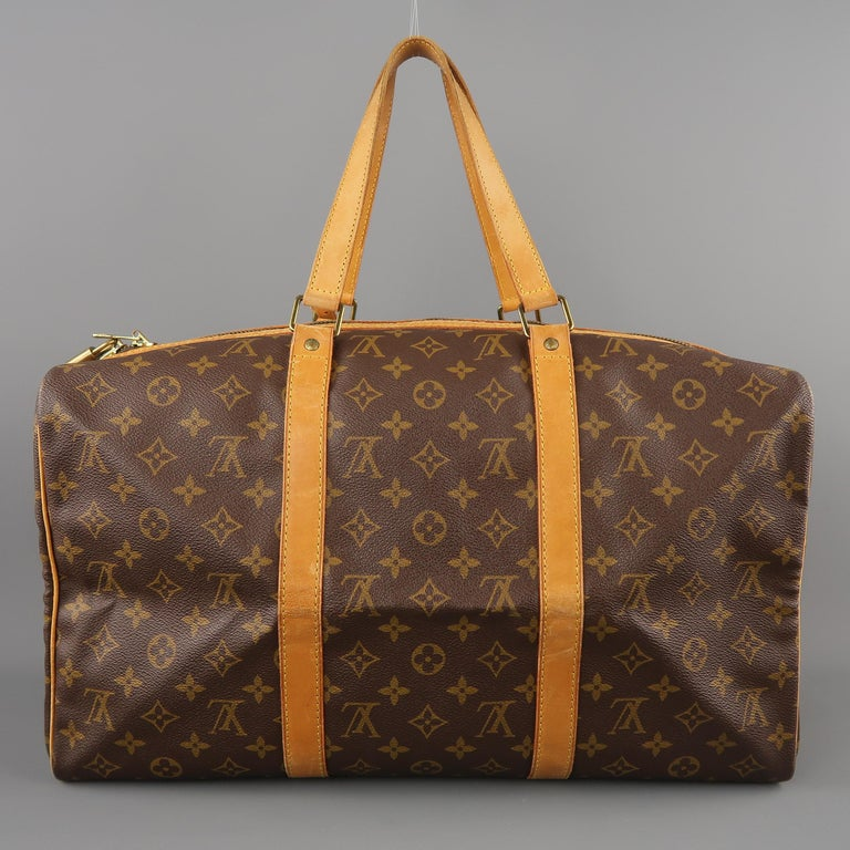 LOUIS VUITTON Brown Monogram Canvas SAC SOUPLE 45 Travel Bag 7