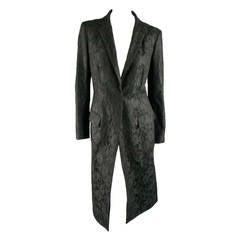 Vintage RICHARD TYLER  Size 10 Black Wool Lace Coat