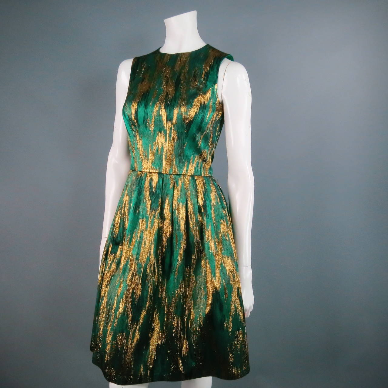 MICHAEL KORS Size 4 Green Polyester Blend Cocktail Dress 4