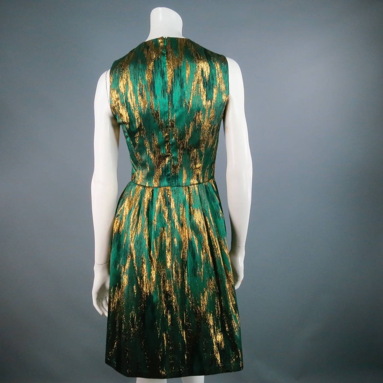 MICHAEL KORS Size 4 Green Polyester Blend Cocktail Dress 3