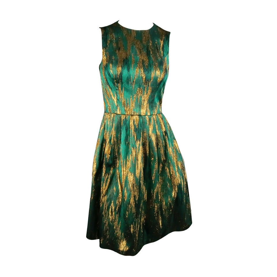 MICHAEL KORS Size 4 Green Polyester Blend Cocktail Dress 1