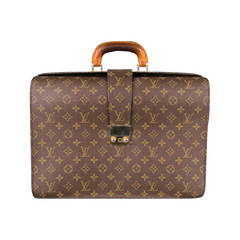 Vintage LOUIS VUITTON -SERVIETTE FERMOIR- Brown Canvas Briefcase