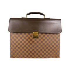 LOUIS VUITTON - Altona- Brown Damier Canvas/ Leather Briefcase