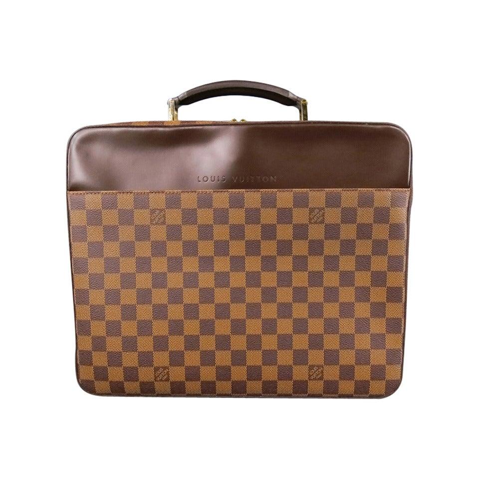 Louis vuitton porte ordinateur sabana damier briefcase for Porte a porte clothing