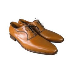 A.TESTONI Shoes - Men's Size 12 Leather Caramel Lace Up