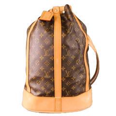 LOUIS VUITTON -RANDONNEE GM- Brown Canvas Backpack
