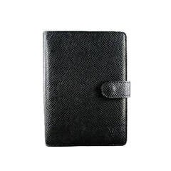 LOUIS VUITTON Black Taiga Leather Small Agenda PM Planner