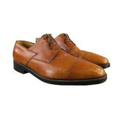 "JOHN LOBB ""BROOK""  Size 9.5 Cap Toe Tan Leather Lace Up"