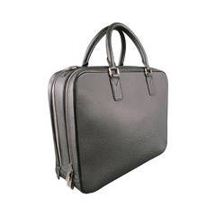 LOUIS VUITTON -NEO ALEXANDER ARDOISE- Black Leather Briefcase