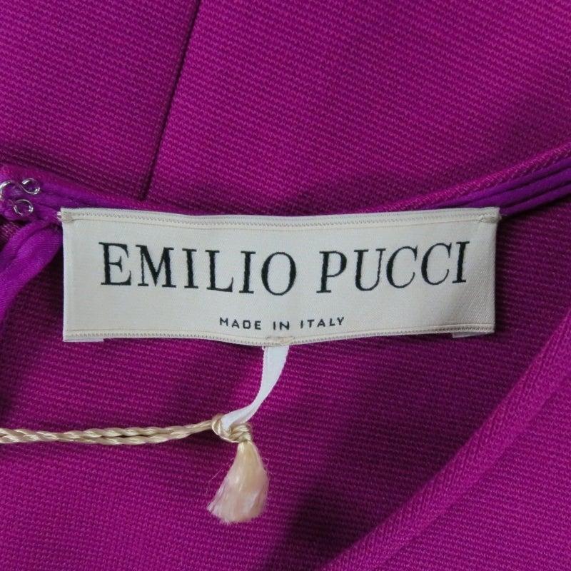 Brand New EMILIO PUCCI Size 12 Fuschia Peplum Dress 9