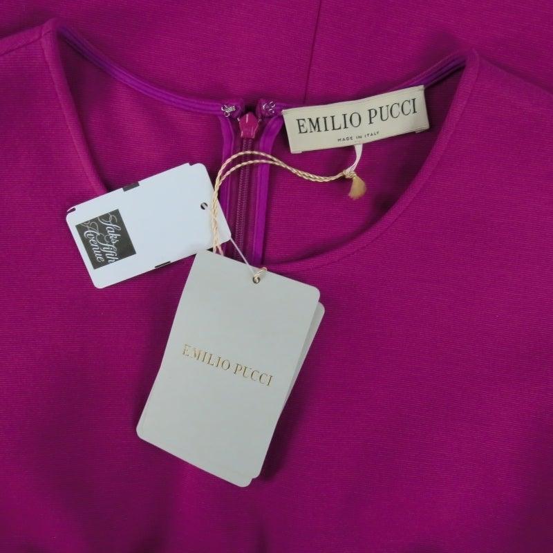 Brand New EMILIO PUCCI Size 12 Fuschia Peplum Dress 4