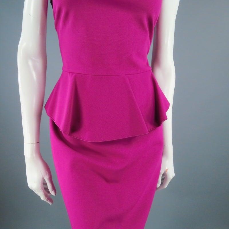 Brand New EMILIO PUCCI Size 12 Fuschia Peplum Dress 2