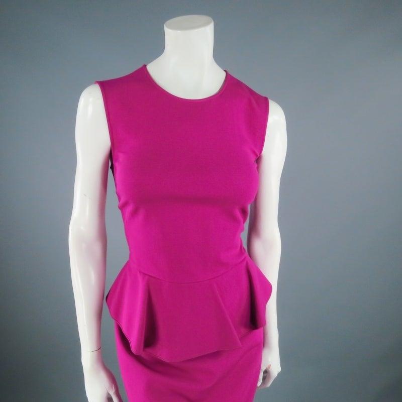 Brand New EMILIO PUCCI Size 12 Fuschia Peplum Dress 6