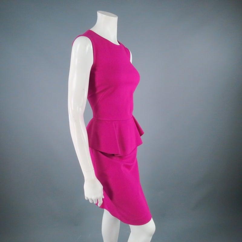 Brand New EMILIO PUCCI Size 12 Fuschia Peplum Dress 5
