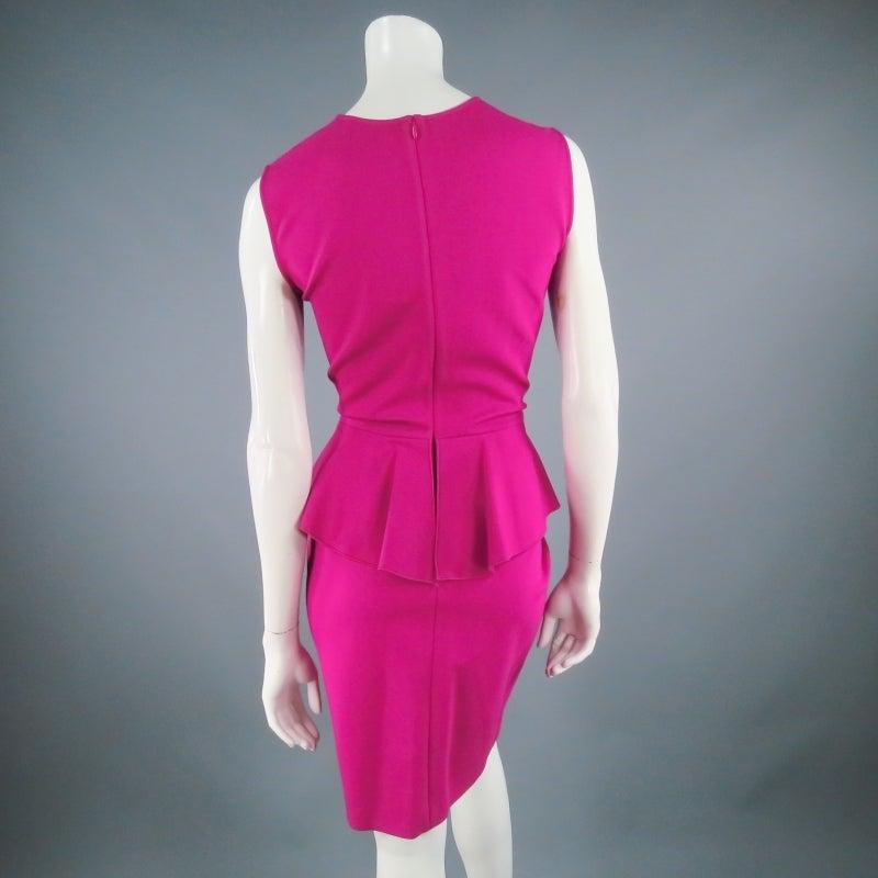 Brand New EMILIO PUCCI Size 12 Fuschia Peplum Dress 8