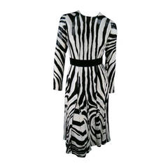 Fall 2013's TOM FORD Size 6 Zebra Tinsel Silk Pleated Dress
