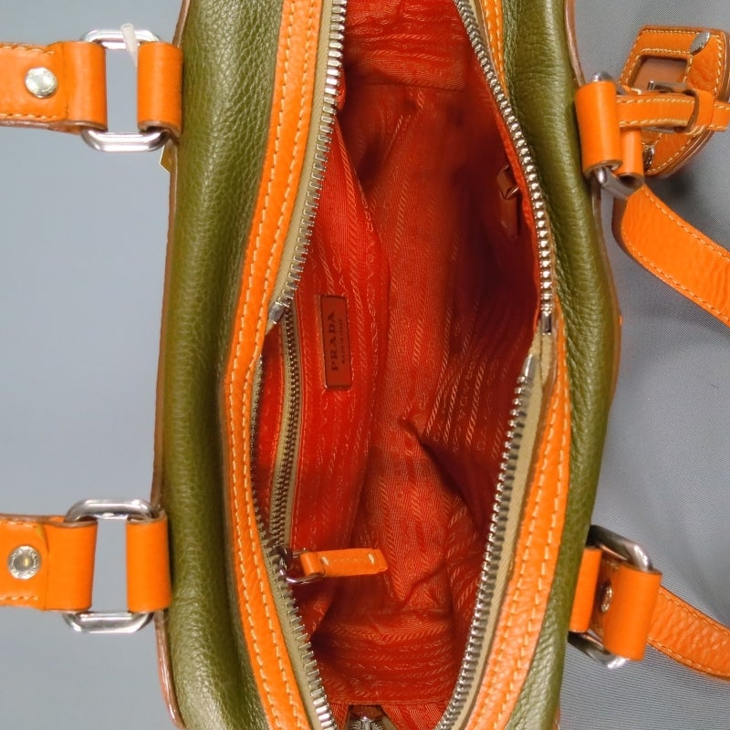 prada handbags orange leather