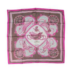 HERMES -New Springs- Pink Silk Scarves
