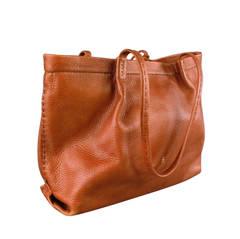HENRY BEGUELIN Brown Leather Tote Handbag