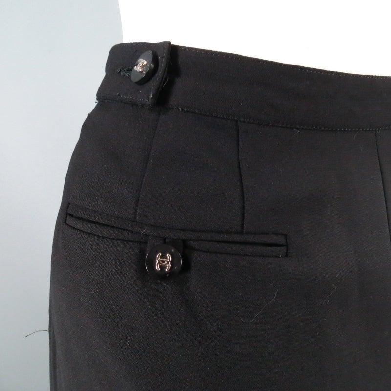 CHANEL Size 10 Black Wool 3 Piece Vest Pants Jacket Ensemble 1996 8