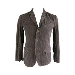 45rpm Men's Deep Taupe Corduroy Notch Lapel Sport Coat Jacket
