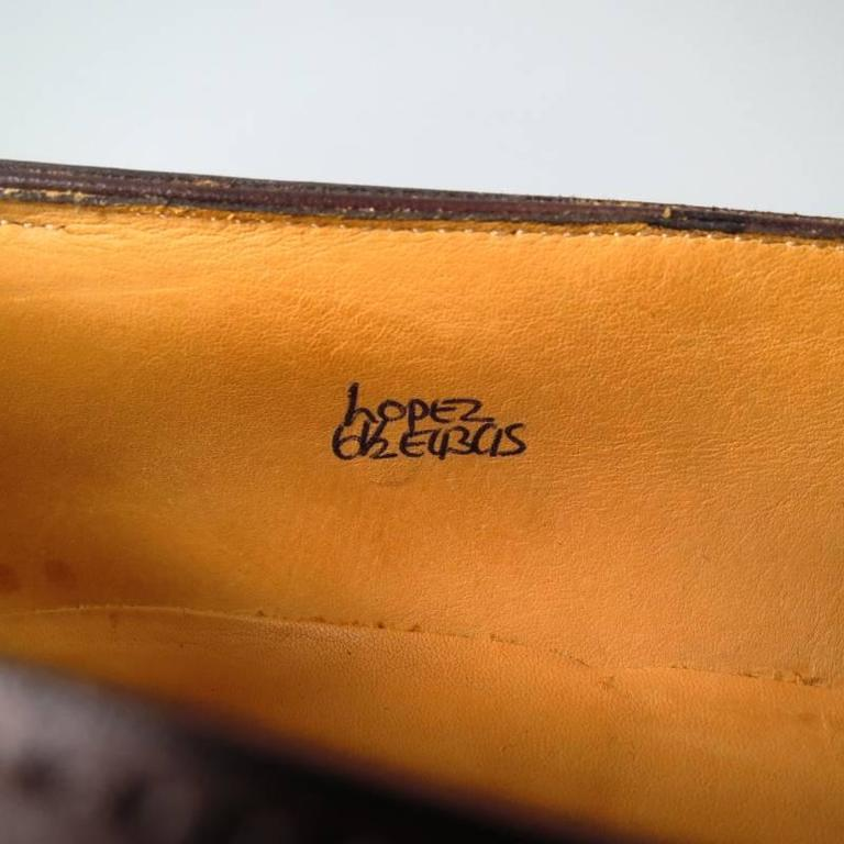 """JOHN LOBB """"LOPEZ"""" Size 7.5 Brown Leather Loafers 7"""