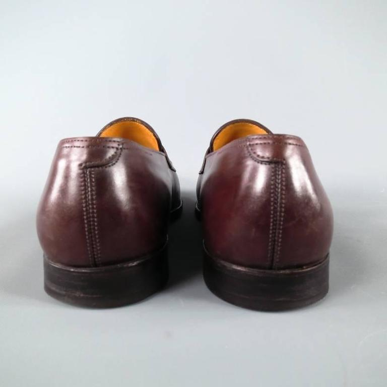 """JOHN LOBB """"LOPEZ"""" Size 7.5 Brown Leather Loafers 4"""