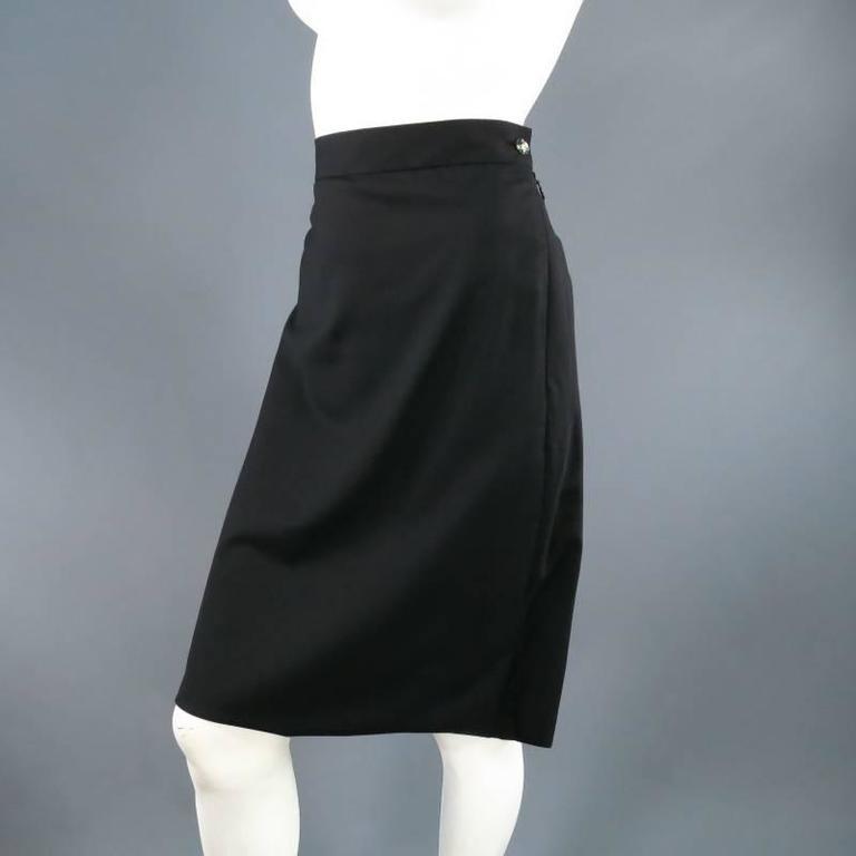 vivienne westwood label size 6 black pleat draped