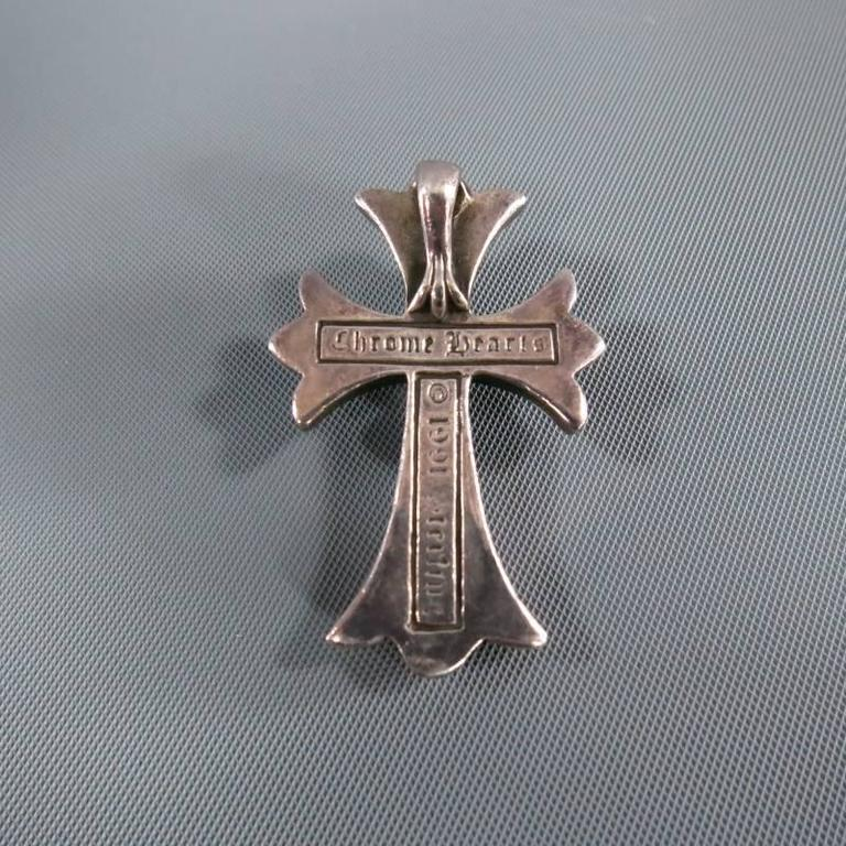 CHROME HEARTS Sterling Silver Engraved Cross Pendant 6