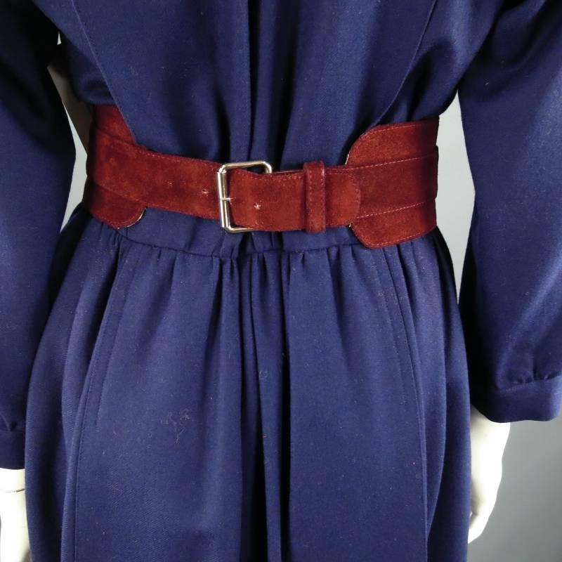 Vintage chloe size m navy embroidered gold button military