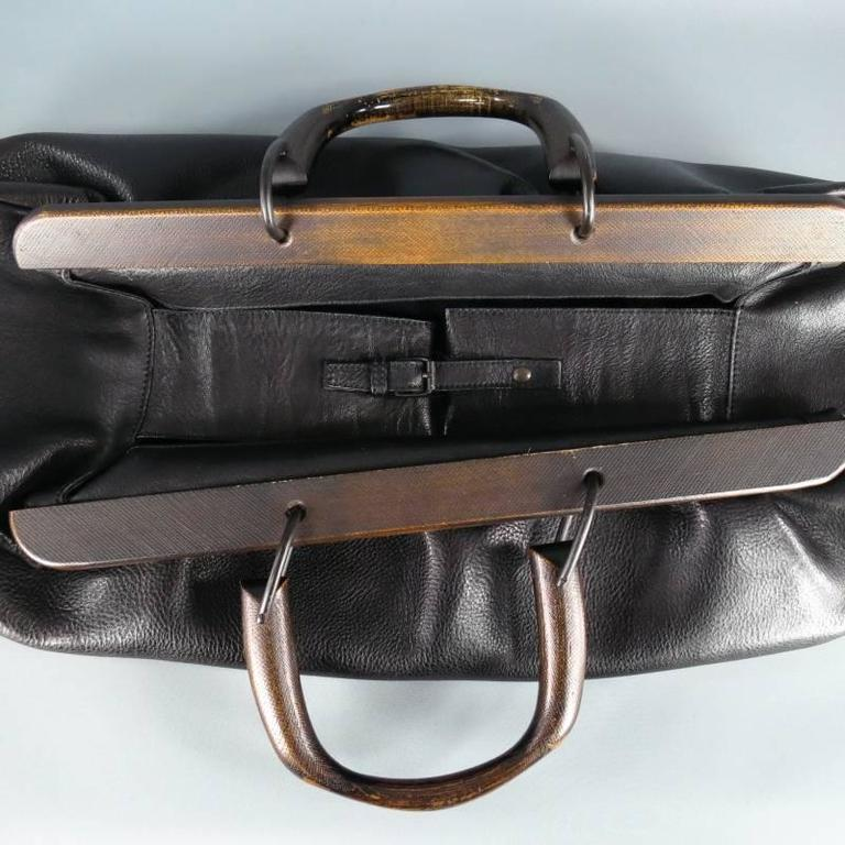 Gucci By Tom Ford Wooden Handles Black Leather Doctor