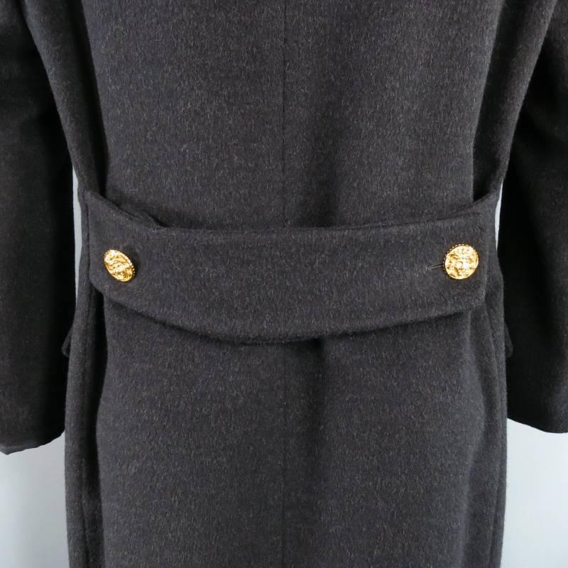 Vintage Gianni Versace Men S 40 Charcoal Wool Gold Medusa