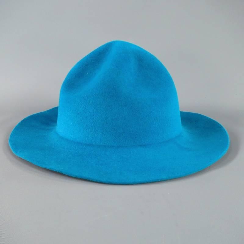 BURBERRY PRORSUM Blue Felt Spring Summer 2015 Runway Hat ...
