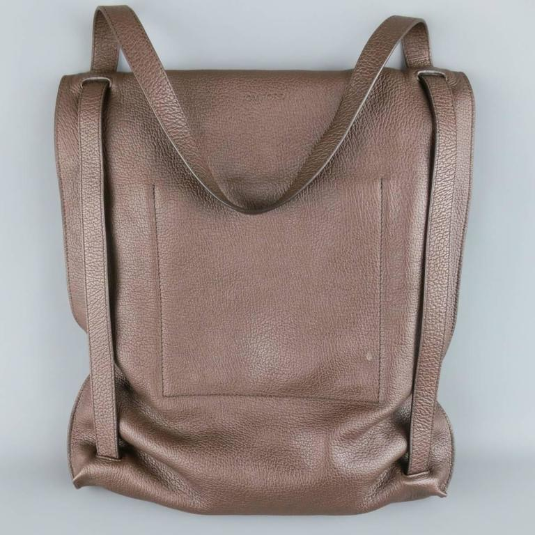 tom ford brown pebbled leather convertible backpack tote bag at 1stdibs