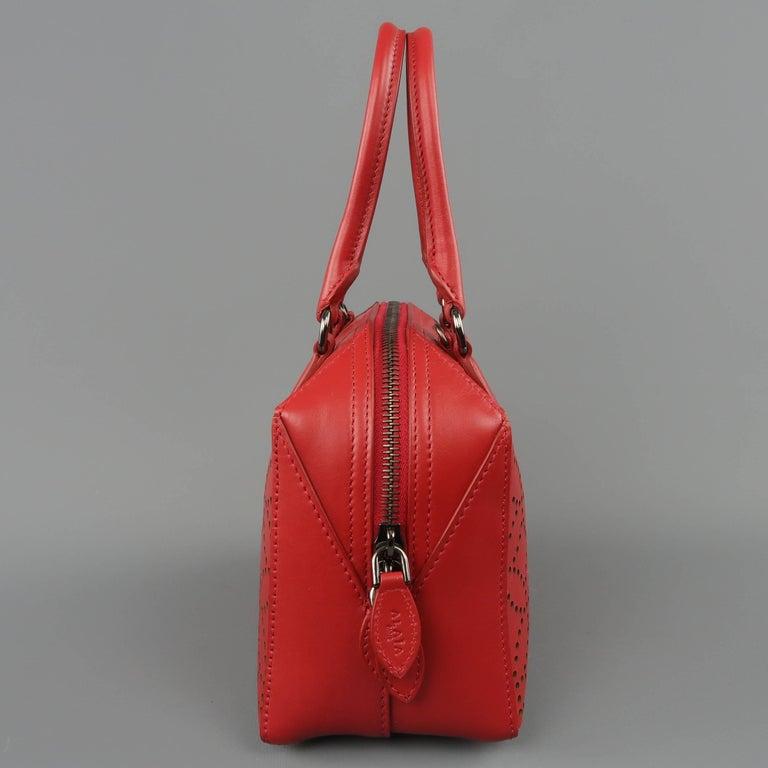 1stdibs Alaia Red Perforated Leather Mini Top Handles Cross Body Handbag 83hFKx